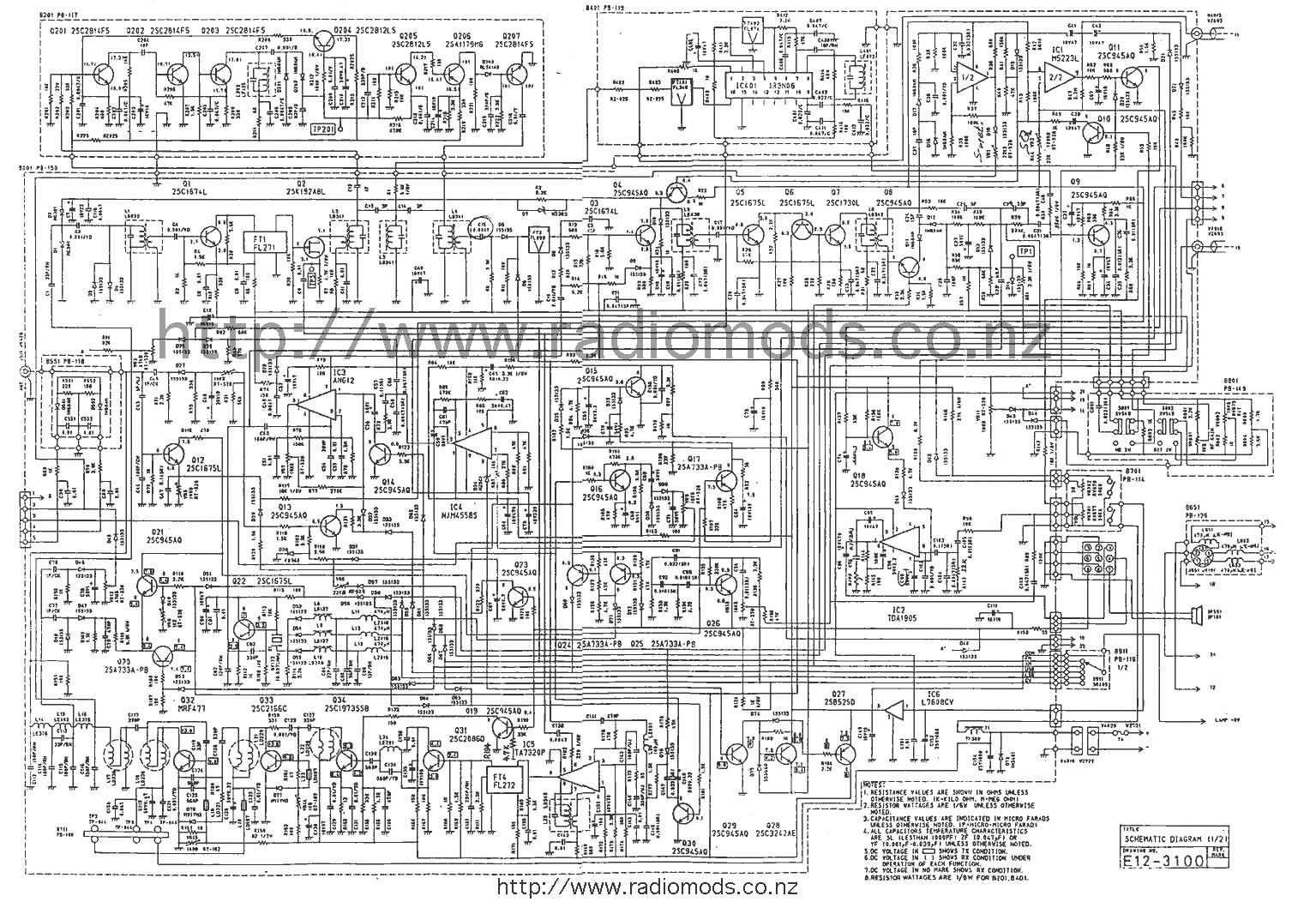 The Defpom Cb And Ham Circuit Diagram Page Ups Pcb Go To President Hr2600 Main