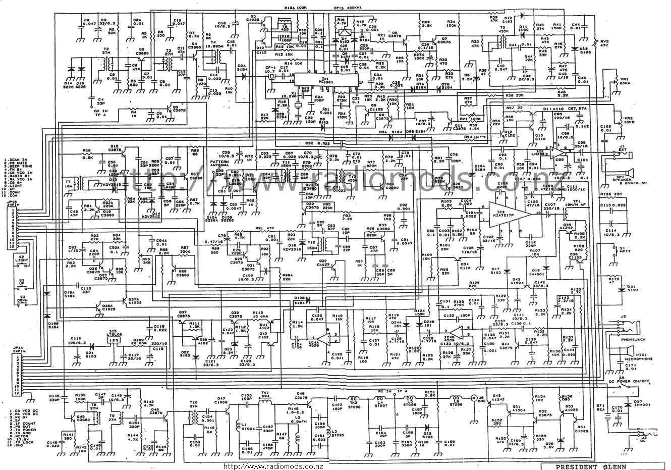presidentglenncd the defpom cb and ham circuit diagram page circuit diagram pdf at n-0.co