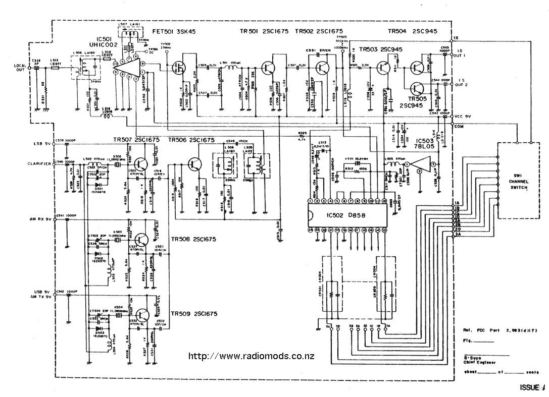 The Defpom Cb And Ham Circuit Diagram Page Moto G Go To Courier Spartan Pll Pcb