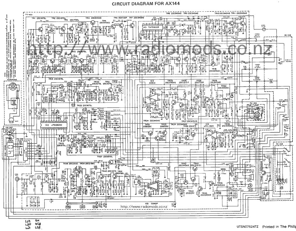 go to the uniden/president ax144 circuit diagram page