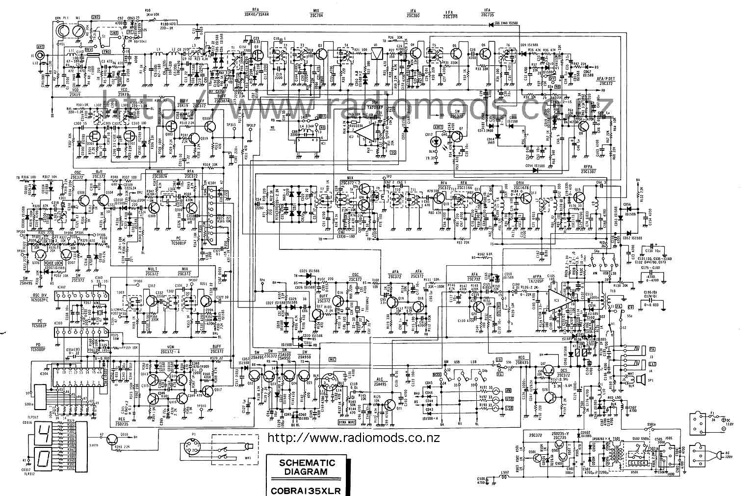The Defpom Cb And Ham Circuit Diagram Page C180 Fuse Box Go To Cobra 135xlr