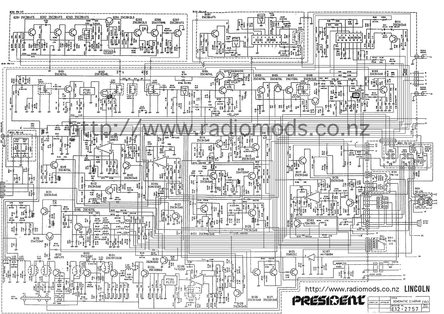 President Lincoln Ii Microphone Wiring Diagram 46 Co 4 Pin Go To The Main Pcb Circuit